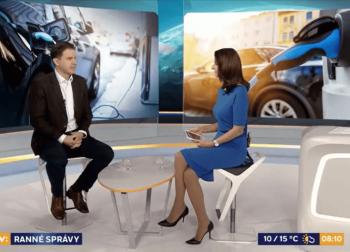 Ranné správy RTVS – o výhodách elektromobilov a podmienkach na Slovensku